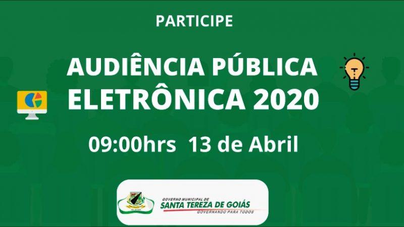 PREFEITURA REALIZARÁ AUDIÊNCIA PÚBLICA PARA ELABORAÇÃO DA LDO 2021 E ALTERAÇÃO DE METAS DO PPA 2018/2021 NO DIA 13/04