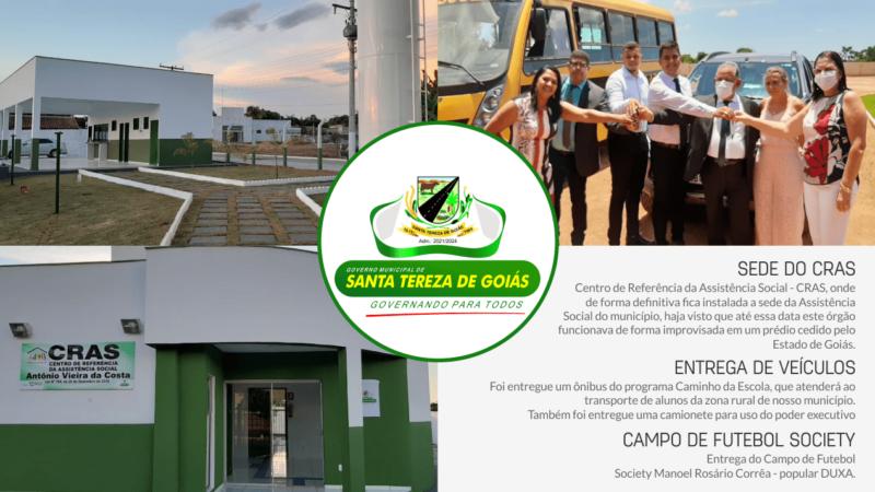 ENTREGA DE OBRAS A COMUNIDADE DE SANTA TEREZA DE GOIÁS, EM 01/01/2.021.